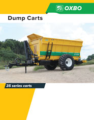 Oxbo 35 Series Dump cart brochure