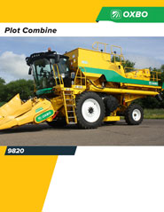 Oxbo 9820 Research Harvester brochure