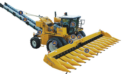Oxbo 8435 Seed Corn Harvester Features and Benefits