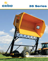 Oxbo dump carts and dump wagons