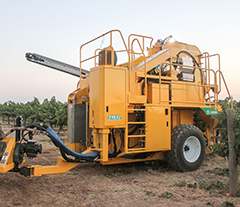 Oxbo 316XL pull-type Grape Harvester