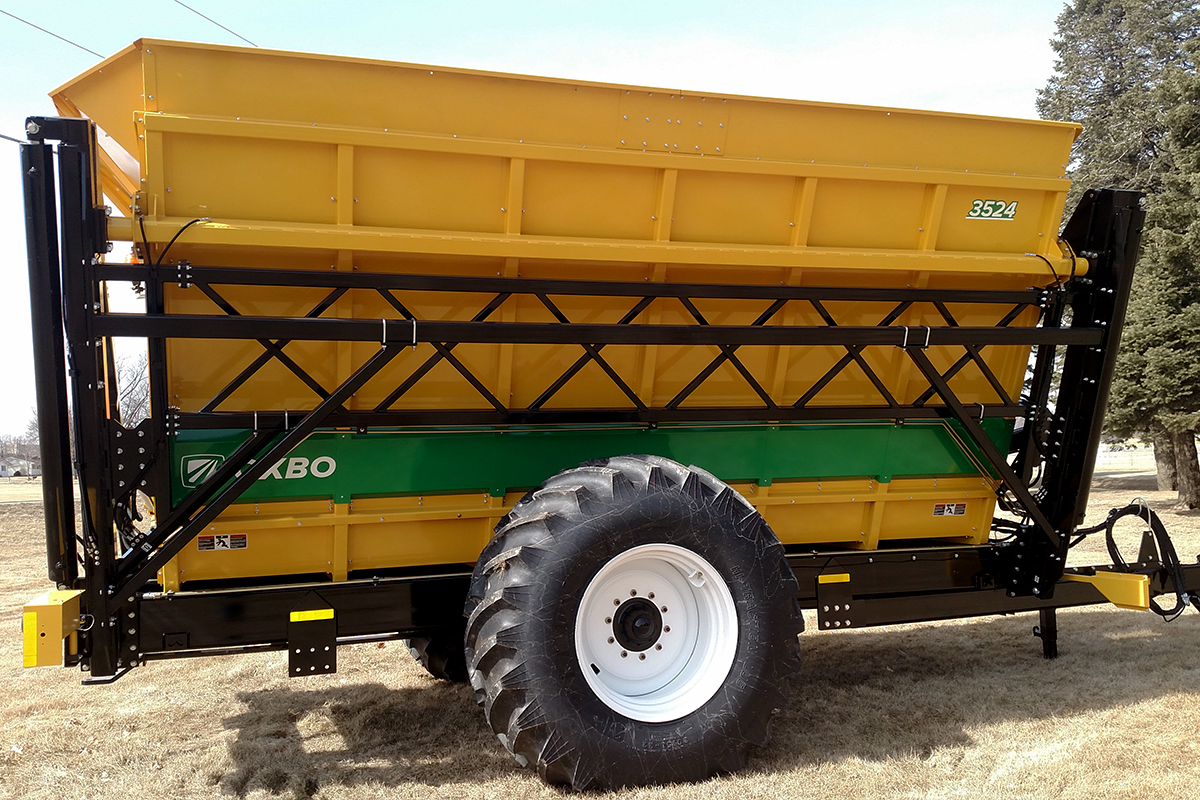 Oxbo Dump Carts and Dump Wagons offer the longest life and most dependable performance