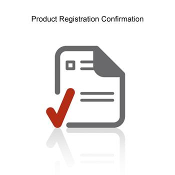 Product Registation Confirmation