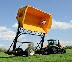 Oxbo Dump Carts and Dump Wagons help get time sensative crops out of the field